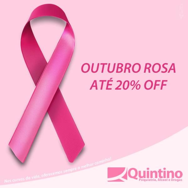 Outubro Rosa com 20% OFF